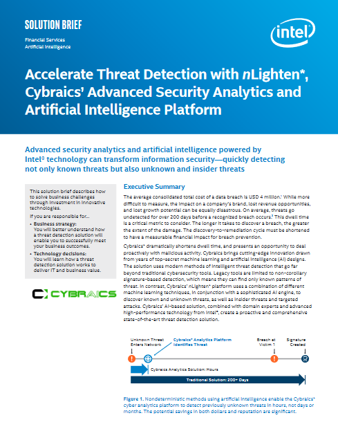 Accelerate Threat Detection with nLighten, Cybraics' Advanced Security Analytics and Artificial Intelligence Platform