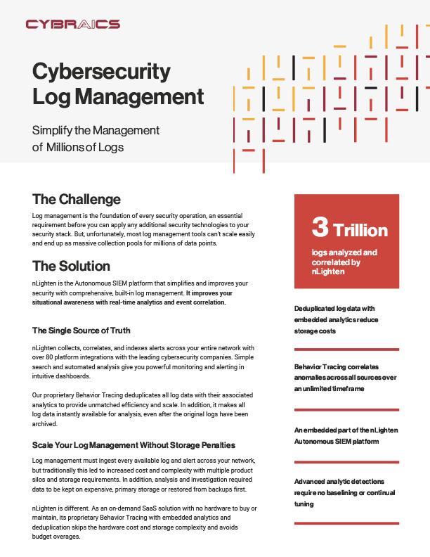 Log Management Datasheet