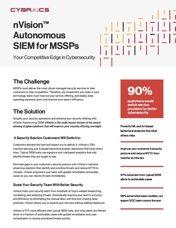 nVision™ Autonomous SIEM for MSSPs